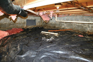 Crawl Space Repair Before in Grand Junction